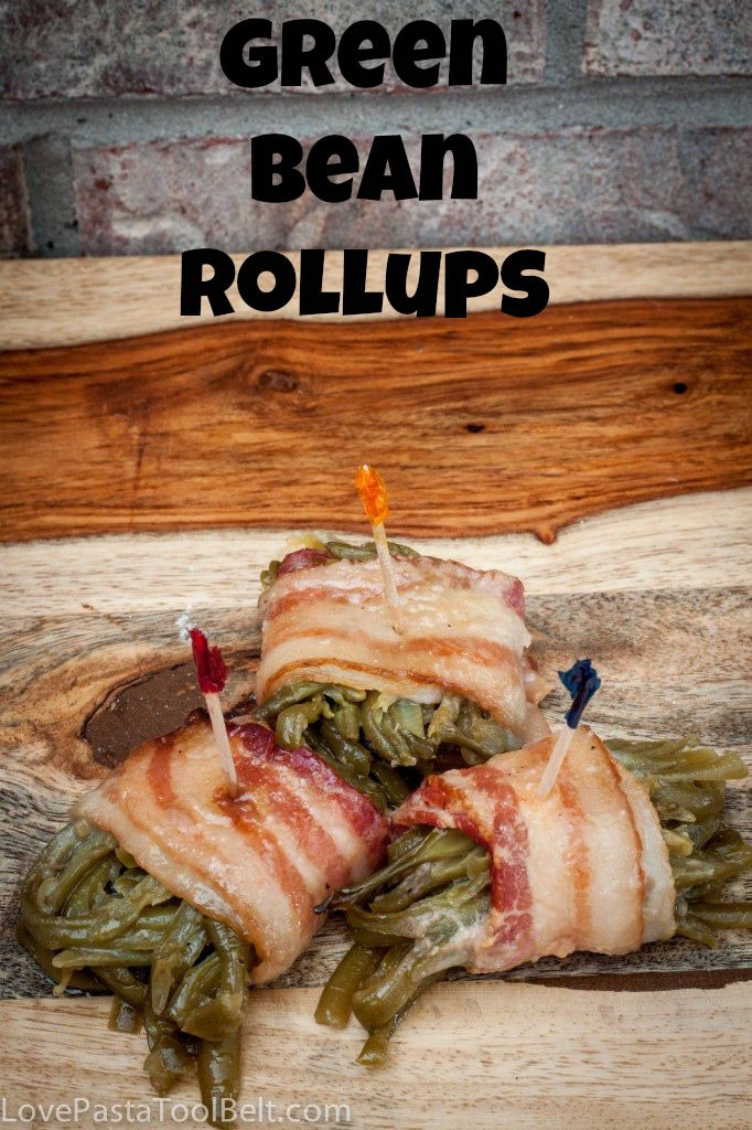 These Green Bean Rollups are the perfect side dish recipe. Easy to put together and perfect for any dinner or party! | recipes | sides | side dish | Thanksgiving |