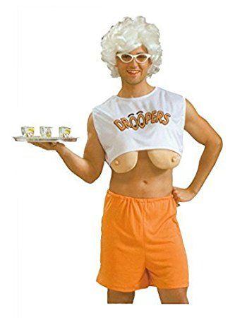 Erwachsene Herren Droopers Hooters Junggesellenabschied Kostüm Kleid ...