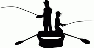 Silhouette Online Store: father & son fishing silhouette