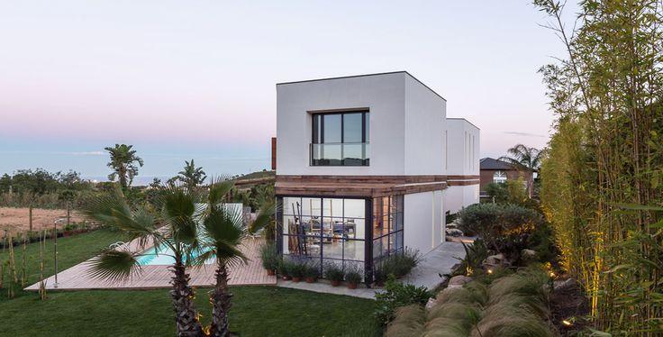 A House | 08023 Architects - Barcelona - Spain / Exterior garden at the dawn. #House #garden #landscape