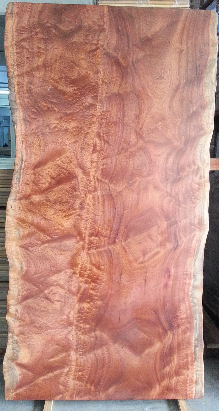 Sapelli Wood Slab Table