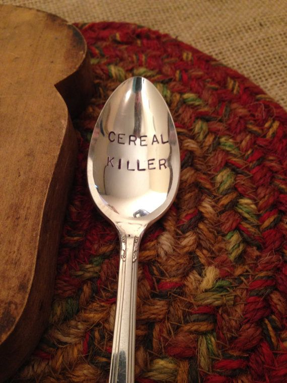 Hand Engraved Silver Spoon Hand Stamped Silver by ThirtySixDesign, $15.00