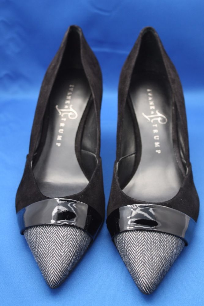 Ivanka Trump Nyle Black Suede Leather Pumps US Shoe Size 8M #IvankaTrump  #PumpsClassics