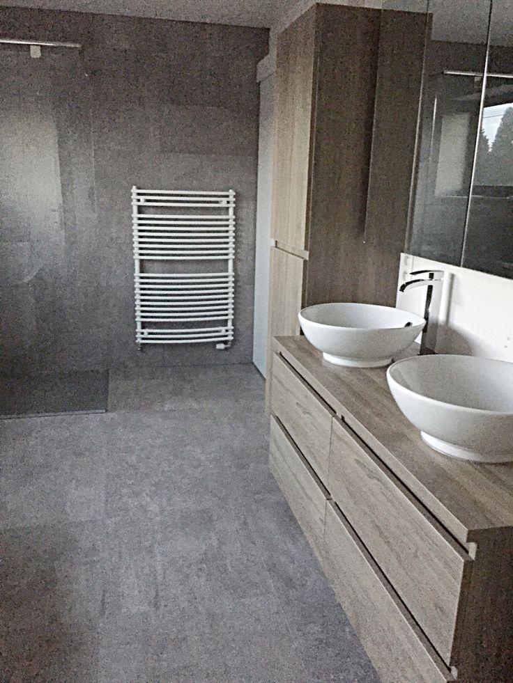 Bathroom rough oak grey white wood