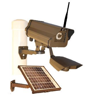 If you have a remote location with no electricity, and you need to put up a camera to watch a gate, pump, or the back 40, this is a great alternative to an expensive solar powered video surveillance camera.