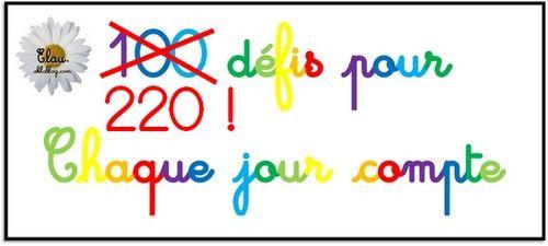 Ma banque de 220 défis individuels CP à relever pour la fête du 100e jour d'école (répartis en 4 niveaux de difficulté croissante) ~ Elau
