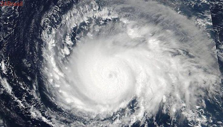 Imagens da Nasa mostram avanço do furacão Irma, o mais forte da ultima década, em direção ao Caribe