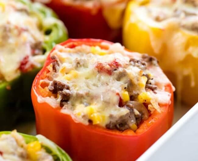 Ground Beef Stuffed Bell Peppers Recipe In 2020 Stuffed Peppers Best Stuffed Pepper Recipe Recipes