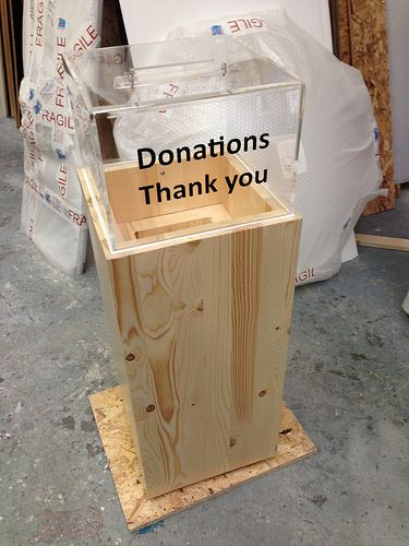 FSC Certified Wood Donation Box