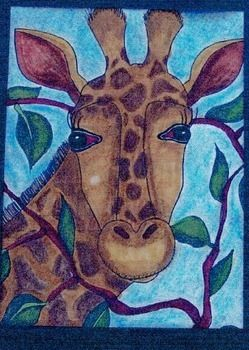 This great guided drawing lesson is perfect for elementary school children grades 1st through 6th.  The lesson teachers students how to draw a giraffe using a step by step method that anyone can teach.  You do not need to have any artistic ability to teach this lesson.