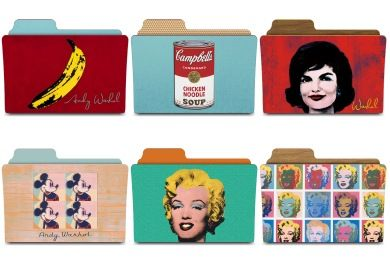 Warhol Folders Iconset (8 icons) | rebelheart