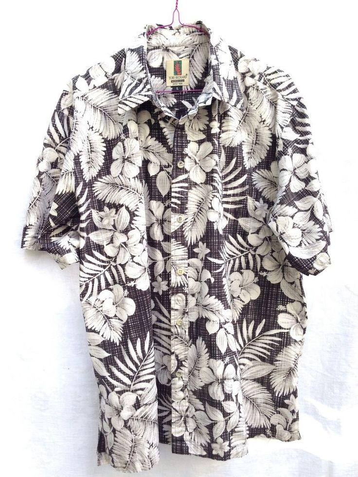 Tori Richard Hawaiian Aloha Shirt Reverse Print Retro (1990s) L #ToriRichard #Hawaiian #retro #vintage