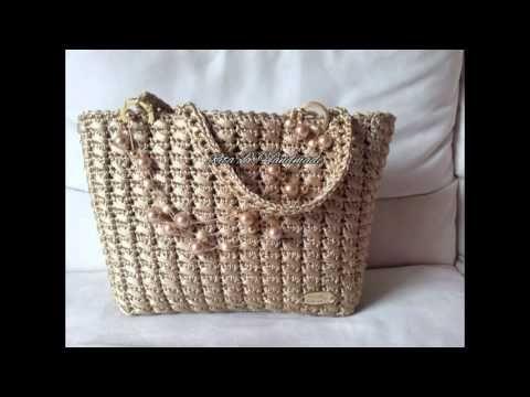 Borsa shopper passo passo a punto canestro doppio obliquo - crochet - YouTube