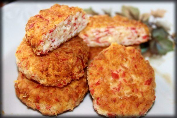 Cutlets of crab sticks!