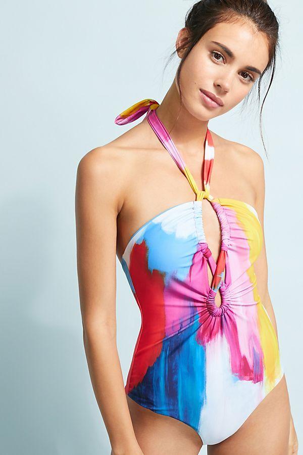 a782ecd216 Mara Hoffman Aya Keyhole One-Piece Swimsuit