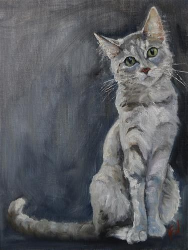 """Daily Paintworks - """"The Stare"""" - Original Fine Art for Sale - © H.F. Wallen"""
