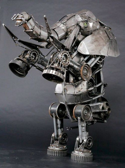 5 Beautiful Steampunk Animal Sculptures By Andrew Chase | MeterDown