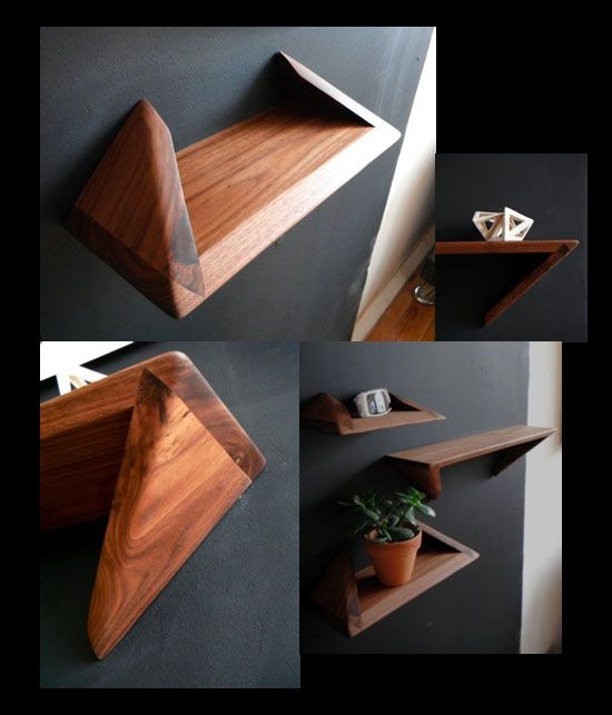 Cool joinery on these shelves what wood that be for Decorative wooden letters for shelves