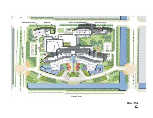 Suzhou Children's Hospital / HKS,site plan
