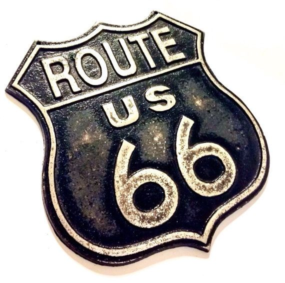 Vintage Route 66 Sign - Road Signs - Rusty Metal Signs - Hot Rod Decor- California Highway Sign - Car Theme - Man Cave Decor - Americana