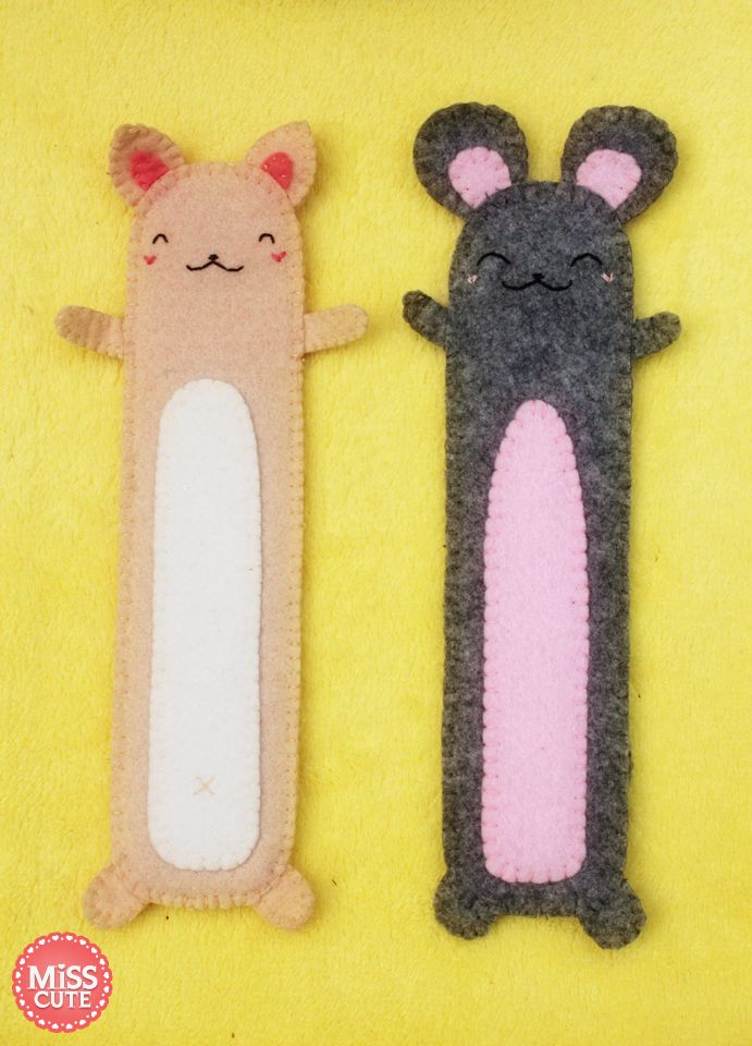 Felt bookmarks by ~reesq on deviantART