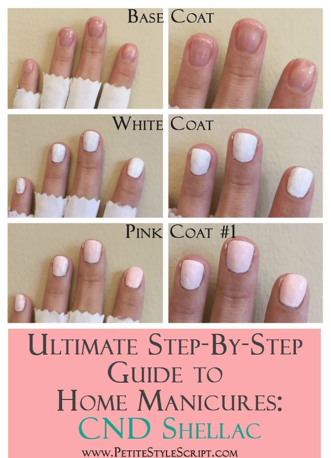 Ultimate Step By Step Guide To Home Manicures Cnd Shellac Manicure At Home Shellac Nails At Home Shellac Nail Colors