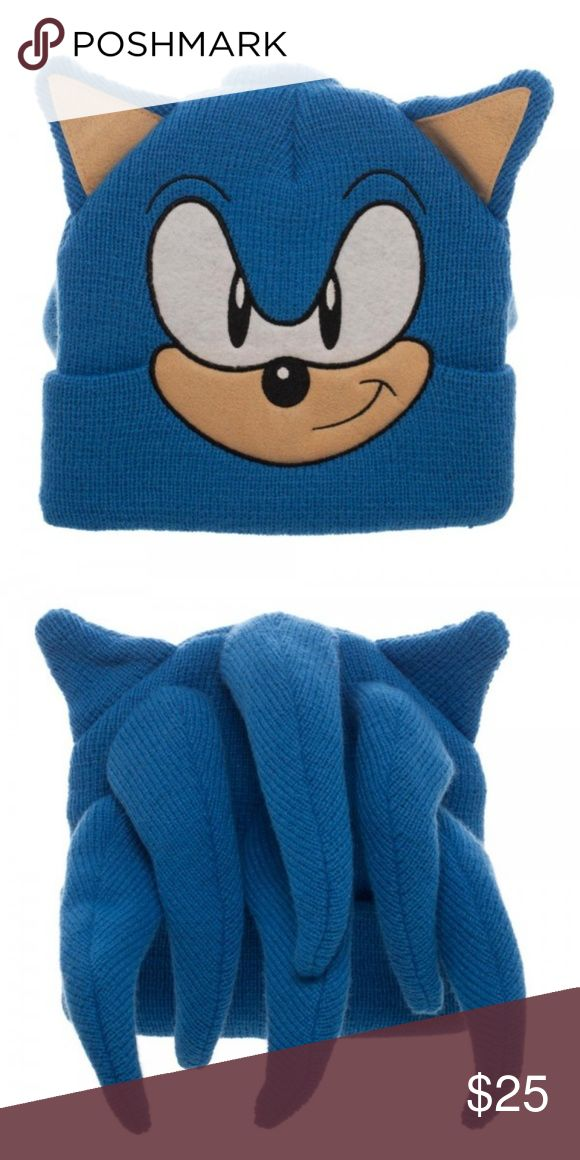480427677461c Sonic the Hedgehog Head Face Beanie Hat w  Quills This is for 1 Sega themed Beanie  Hat. It s like wearing Sonic s head! This beanie …