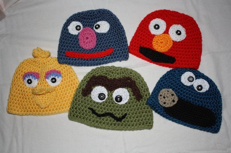 Sesame Street Hats. $12.00, via Etsy.