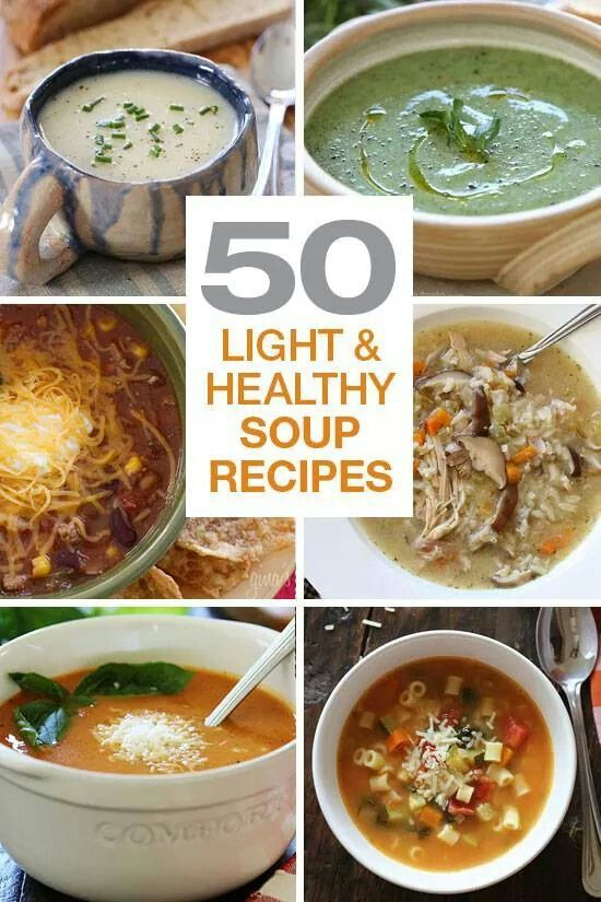 Lite and healthy soup receipts