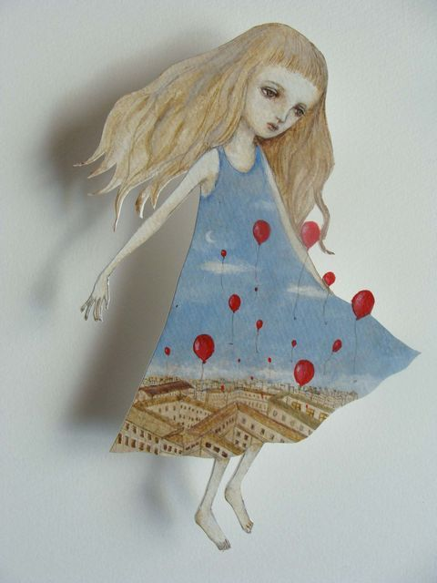 A messenger from winds, a paper doll by Maki Hino