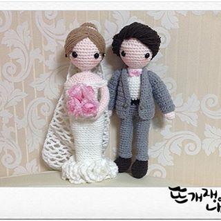 #amigurumi#crochet#amigurumicrochet#웨딩커플1호#amigurumidesign