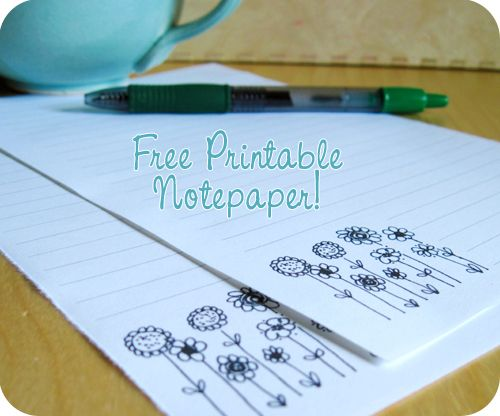 images about Writing Paper on Pinterest I made some flower notepaper to use to write my penpals and decided to share it with you  Just download