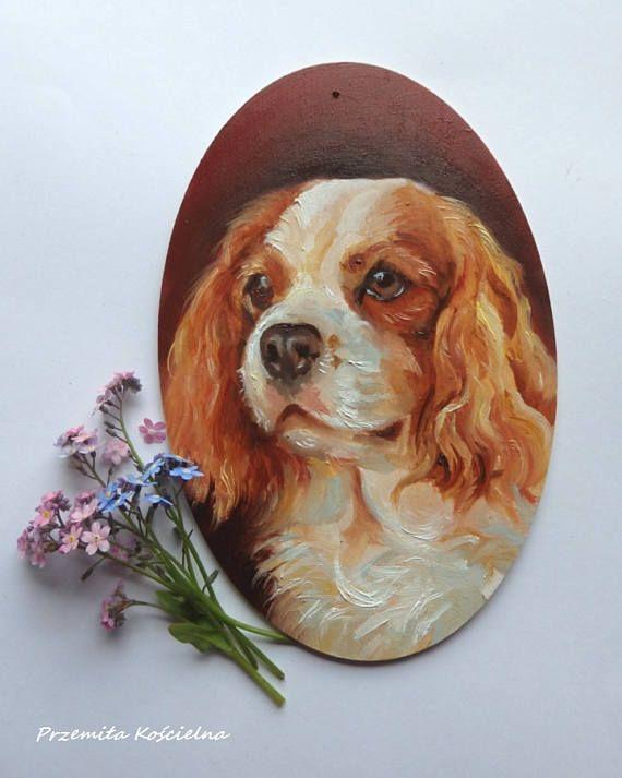 Cavalier King Charles Spaniel Dog memorial Oval Door