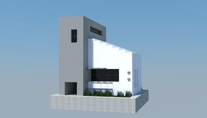 11x12 Modern house, creation #5573