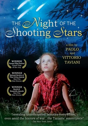 The Night of the Shooting Stars (1982) Set during the waning days of World War II, this resonant Italian allegory unspools through the eyes of a 6-year-old girl (Sabina Vannucchi) who chronicles the exodus from her Tuscan village, the coming of the Allies and the clash between the peasants and the fascists. Omero Antonutti co-stars as Galvano, who leads a small band of refugees into the hills to escape the vindictive Nazis and look for the forces of liberation.