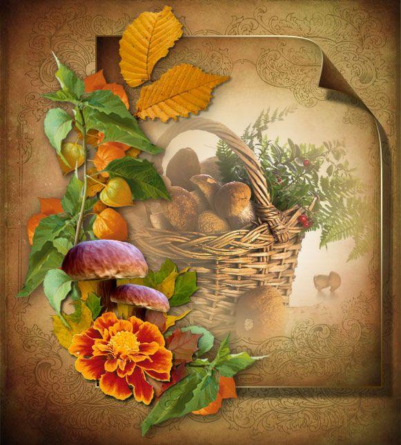 Podzimní obrázky   Tvoření