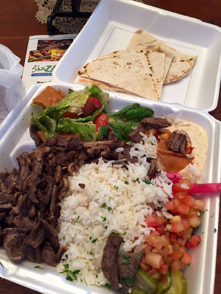 Zaky Mediterranean Grill - Perris, CA, United States. The Beef Shawarma plate..