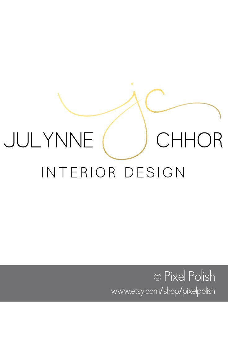 Handwritten Initials Logo For Julynne Chhor Interior Design