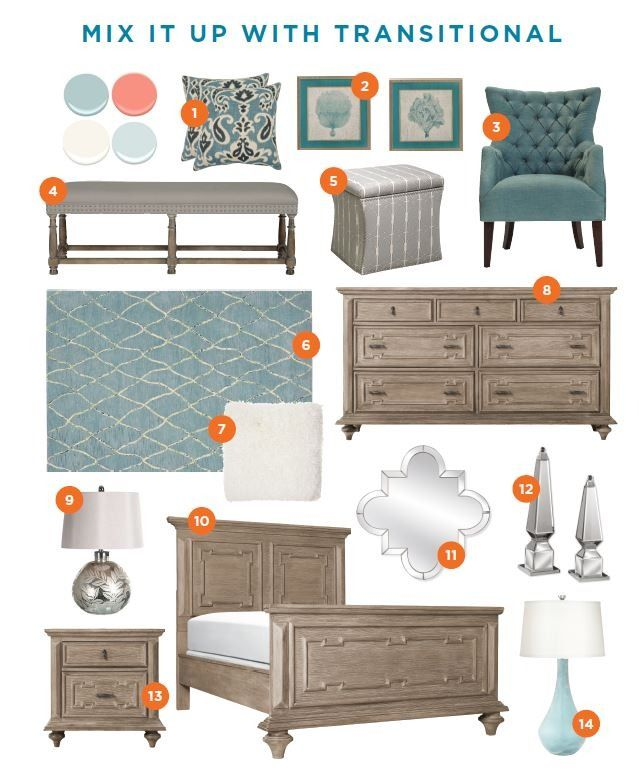 When MemeHill Studio designs it, you know it will be stunning. Pin her Transitional Bedroom, featuring Raymour & Flanigan products, for inspiration for your next makeover!