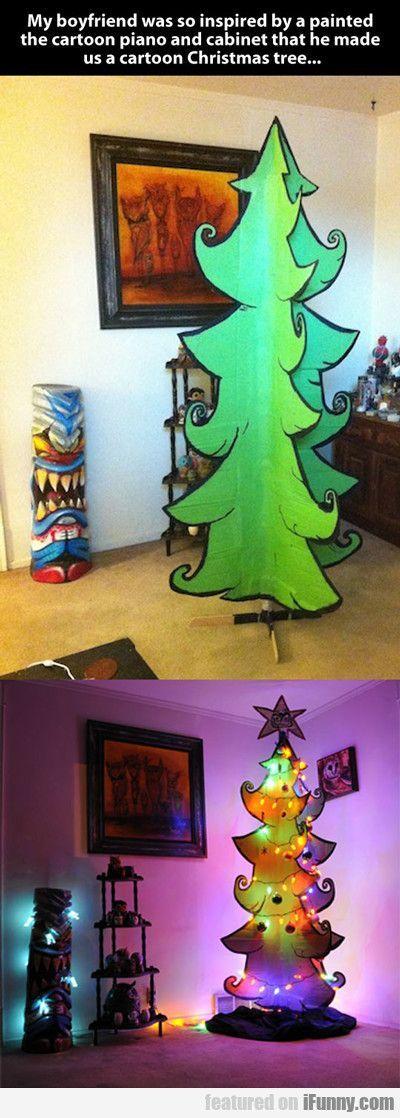 Cartoon Christmas tree. Tree for next year?