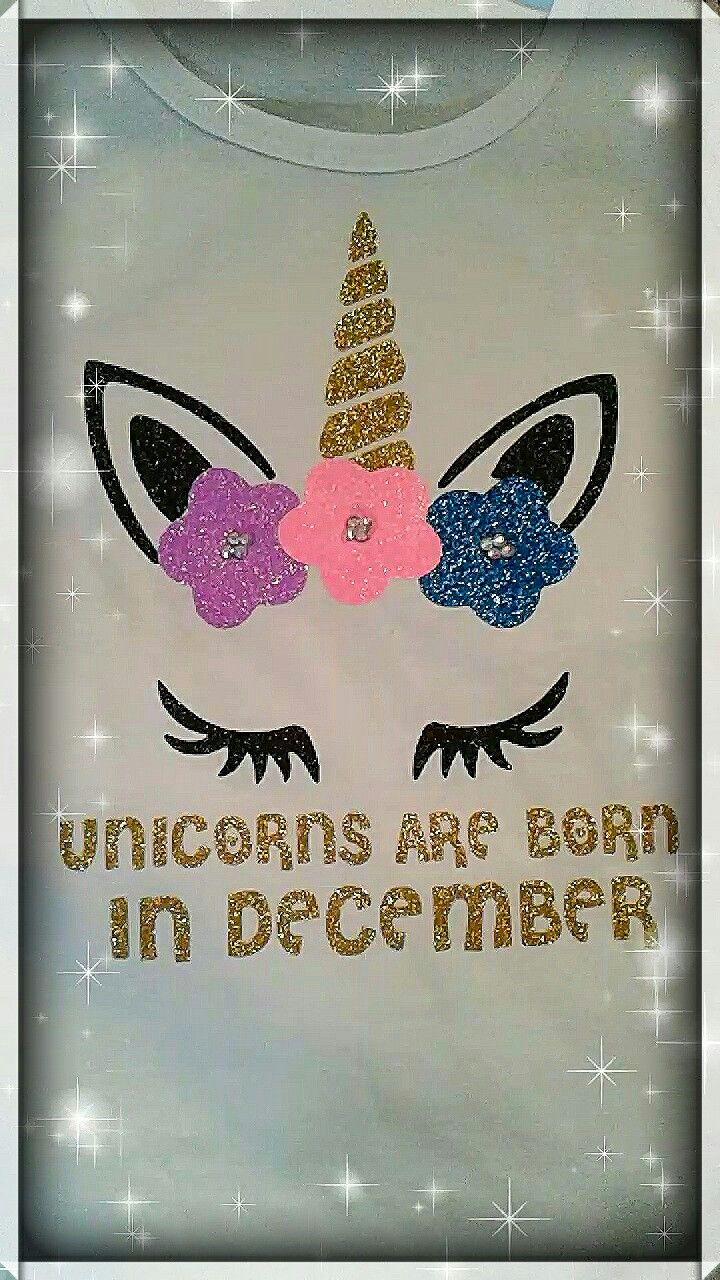 13491e5b4 Unicorn are born in December / Unicorn birthday party / Unicorn birthday  shirts / Unicorn magical party / Glitter / Sparkle