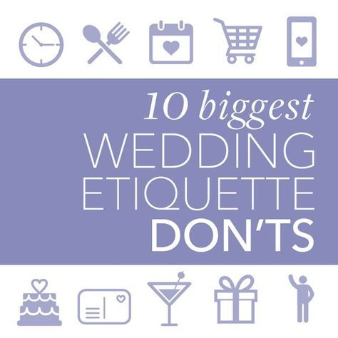 Not sure what's the best way to handle invitation wording, gift registries, and the myriad of other wedding details? Navigating each and every sticky wedding planning situation that arises during your engagement can be challenging. But fear not! We're here to help you avoid any potential etiquette pitfalls, which will ensure a picture-perfect wedding day. We've put together a list of our top 10 all-too-common wedding-etiquette mistakes so that you can avoid as many of them as possible — plus…
