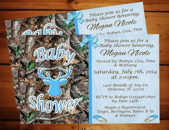 Little boy blue camo baby shower by momentsinlifedesigns on etsy
