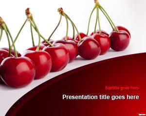 Free Cherries PowerPoint Template | Free Powerpoint Templates