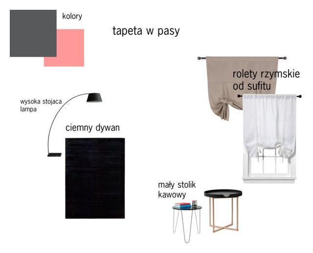 pokoj goscinny by magdalena-grycz on Polyvore featuring interior, interiors, interior design, dom, home decor, interior decorating, .wireworks, Rove Concepts, Calvin Klein and Room Essentials