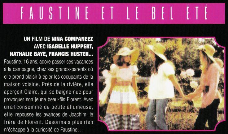 """""""Faustine et le bel été"""" (1972); regia: Nina Companeez (coupure de journal)"""