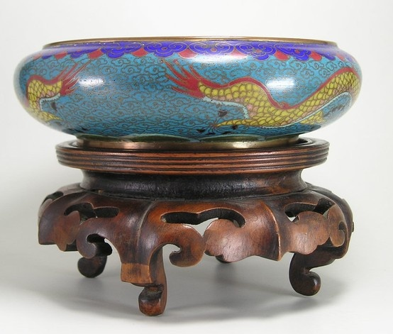 1920s chinese cloisonne bowl stand cloisonne pinterest for Cloison stand
