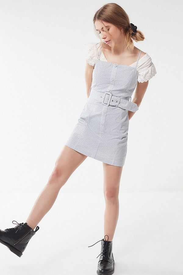 e53bb71431a7 UO Belted Gingham Button-Down Mini Dress in 2019 | Inspo | Dresses ...