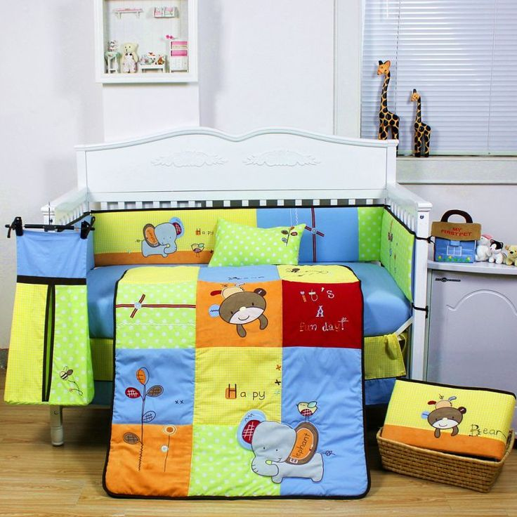 9pc Baby Cot Bedding Quilt Set w/ Zoo Animal Design | Buy Baby & Kids