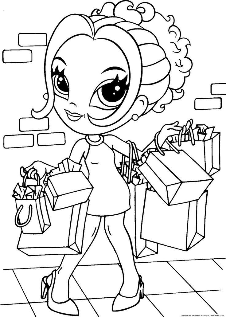 Раскраска Гламурная девочка » Раскраски для детей. Распечатать детские раскраски бесплатно. Раскраски животных, барби, фей винкс, машины, принцессы, цветы, птицы